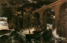 Ataque de piratas Arnold Bocklin 1886 7x5 pulgadas impresión