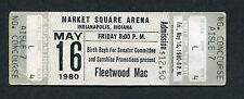 1980 Fleetwood Mac unused full concert ticket Tusk Tour Penguin Indianapolis