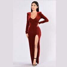 NWT Fashion Nova 'Love Sex Magic' Velvet Red Gown Size S