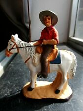 Santon en terre cuite peint Carbonel - Gardian cheval n°3
