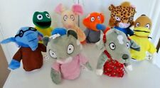 Set Of 8 Hand Puppets cat frog elephant tiger dog mouse duck fox (NEW & SEALED)