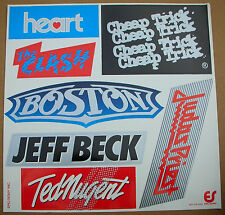 HEART THE CLASH CHEAP TRICK BOSTON Epic/Sony JAPAN Promo Sticker Set Sheet Mint-