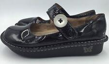Alegria Paloma Pal-101 Black Patent Leather MaryJane Womens Shoes EU 38/US 7.5-8