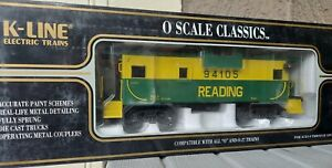 K-Line O Scale # K613-1932 Reading Extended Vision Smoking Lighted Caboose NIB