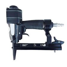 "22 Gauge 3/8"" Wide Crown Air Powered Upholstery Fabric Staple Gun Power Tool"