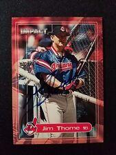 2000 Impact Jim Thome Auto Indians Autograph HOF