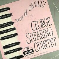 Touch of Genius George Shearing Quintet MGM E90 LP Record 33 Jazz VG+/VG