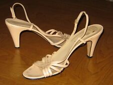 Really Beautiful Strapy Peek Toe High Heels Couture made in Italy . Size 8N