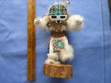 Old Dancing Kachina Doll 9 1/2 Inches Tall Sunface Signed by Maker