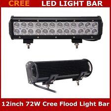 2X 12inch 72W CREE LED Light Bar Flood Light For Truck Boat SUV 4WD 6000K 12V24V
