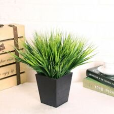 1 Bunch Plastic Artificial Plant Simulation Rice Seeding Grass Home Decoration