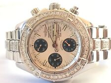 Breitling super Ocean Chronograph diamond Mens Swiss  Automatic Watch With Box