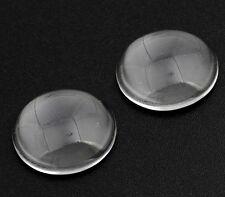 40 Klare GLAS CABOCHON Schmuck Rund 12 mm Basteln Super Optik A Grade BEST R183