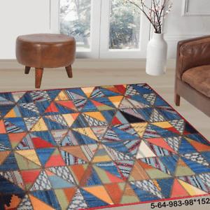 Modern floor rugs patchwork kilim rugs wool carpet natural rugs online AU 5-64