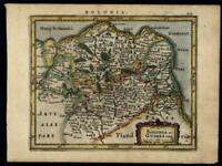 Counties of Boulogne & Guines France Belgium 1628 engraved Mercator map