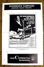 """JOHNNY CASH - THE MAN, HIS WORLD, HIS MUSIC"" / original & uncut 1969 pressbook"