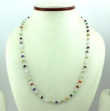 Necklace natural gemstone citrine almandine garnet amethyst 925 sterling silver