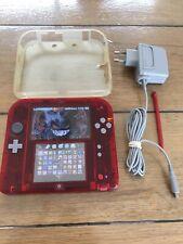 Console NINTENDO 2DS Rouge Transparente 4Go + 41 jeux !!