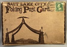c 1910 SALT LAKE CITY UTAH Folding souvenir ANTIQUE Folder Postcard