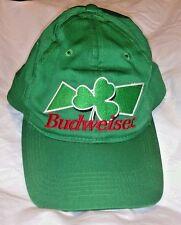 BUDWEISER Shamrock Hat St. Pattys Day 3 Leaf Clover Ball Cap Green 1999 Bud Beer