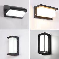 LED Wall Light Waterproof IP66 Porch Modern Motion Sensor Courtyard Garden Lamp