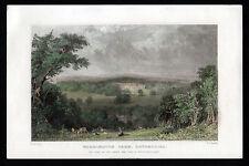 WERRINGTON PARK 1832 Joseph Clayton Bentley - J. Harwood ANTIQUE ENGRAVING