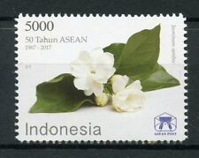 Indonesia 2017 MNH ASEAN 50 Years Arabian Jasmine 1v Set Flowers Nature Stamps