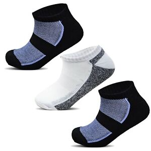 Mens Cushioned Sports Trainer Liner Cycling Walking Running Ankle Socks UK 6-11