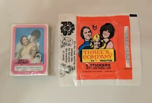 1978 Topps Three's Company Complete Trading Sticker Set 1-44 with Wax Wrapper
