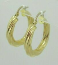 18ct Yellow Gold Twist Hoops