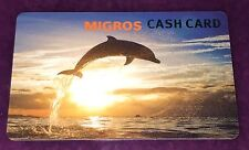 """MIGROS CASH GIFT CARD """"DOLPHIN IN SUNSET"""" CARTE CADEAU NO VALUE FRANCE"""