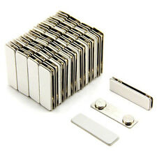Strong Magnetic Name Badge ID Holder w/ Metal Fastener (1000 Pack) (Silver)