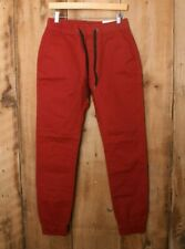 ITALY MORN Red Stretch Chino Jogger Pants Sz. XS (28x31)