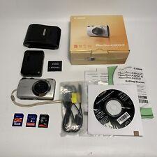 Canon PowerShot A3300 IS 16.0MP Digital Camera - Silver - Bundle