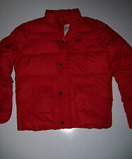 NWT Abercrombie & Fitch Men's Red Puffer lightweight jacket coat large L New