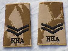 Distintivo di grado: Corporal , RHA, Royal Cavallo Artiglieria, Desert,Coppia