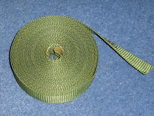 Tipo de Nylon Verde Militar Correas. 20mm Ancho. Verde Militar. Correa de cincha. 6 metros.