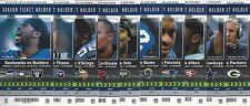 2012 NFL SEAHAWKS UNUSED FOOTBALL SEASON TICKETS COMPLETE SET - RUSSELL WILSON