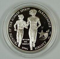 1995 Atlanta Paralympics Proof Silver Dollar Commemorative Coin, No Box No COA
