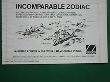 12/1982 PUB ZODIAC CANOT PNEUMATIQUE INFLATABLE COMMANDO MARINE GRAND RAID AD