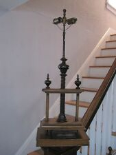 Antique Faux Book Press Table Lamp Carved Cork Screw Mechanical 2 Pull Chain
