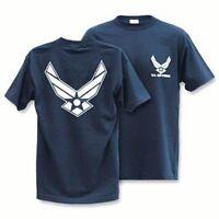 Navy Blue United States US USA Air Force Wings T-Shirt T-shirts Shirt Shirts