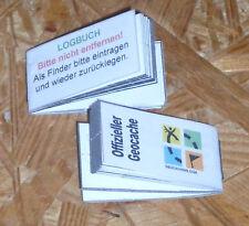 Geocache- Geocaching- Logbuch für 48mm Micro Dose 2Stk