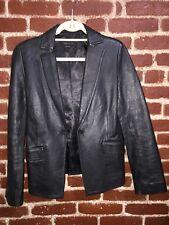 BCBG MAX AZRIA Black 100% Leather Jacket SIZE 4
