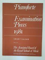 ABRSM Pianoforte Examination Pieces 1981 Grade 7