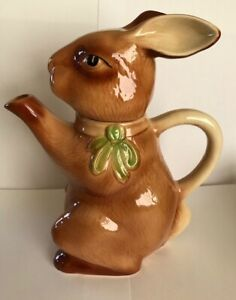 Tony Wood Brown Rabbit Tea Pot approx 23 cm High