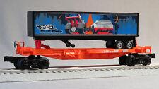 LIONEL O GAUGE HOT WHEELS FLATCAR & TRAILER train spine flat car 6-84700-F NEW