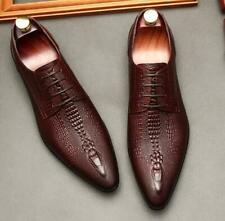 Mens Leather Pointy Toe Dress Oxfords Business Wedding Casual Formal Work Shoes