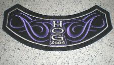 HARLEY Davidson ricamate (patch) inutilizzato-Hog 2004-mit Colore Viola - 14,5 x5, 2cm
