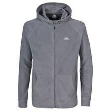 Trespass Fleece Gunbarrel Full Zip Hooded Microfleece Small S Warm Grey Sale
